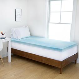 Authentic Comfort Dorm 4-Inch Gel Swirl Memory Foam Mattress