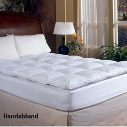 Down Mattress Topper Top Feather Bed Queen Hotel Grand Luxur