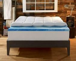 Sleep Innovations 4-Inch Dual Layer Mattress Topper. 10-year