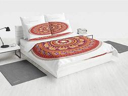 Elephants Decor boy Bedding Set Round Pattern with Decorated