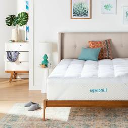 Linenspa Essentials 3 Inch Down Alternative Fiber Bed Mattre