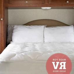extra plush bamboo rv mattress pad fitted