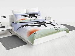 Eye boy Queen Bedding Set Surreal Avant Garde Art Compositio
