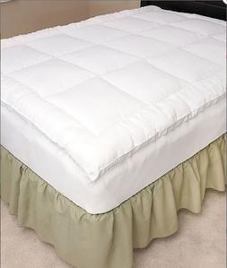 Fitted Mattress Topper Gel Fiber Pillow Top Bedding TW Full