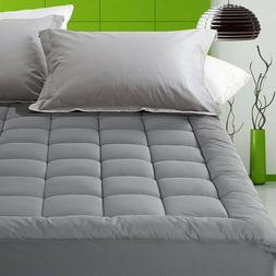 Fitted Quilted Mattress Pad 300TC Down Alternative Topper De