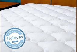 Five Star Hotel Mattress Topper w/ Fitted Skirt ~ White ~ 34