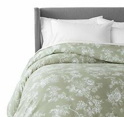 Pinzon 170 Gram Flannel Duvet Cover - King, Floral Sage