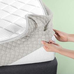 Zinus Foam and Fiber Quilted Mattress Pad for up to 8 Inch M