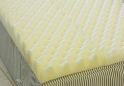 4 inch Foam Twin Bed Pad Mattress Egg Crate / 72 L X 34 W X