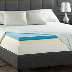 Foam Mattress Topper Full Size 4 Inch High Density Cool Gel