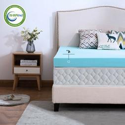 Gel Blue 4 Inch Full Memory Foam Mattress Topper Ventilated