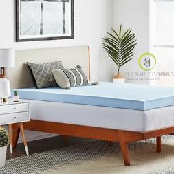 Bamboo Sleep Gel Infused Memory Foam Mattress Topper Cool Co