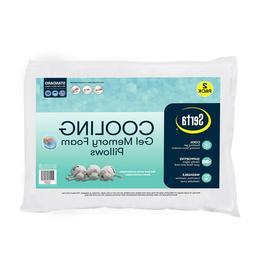Serta Gel Memory Foam Cluster Classic Standard Bed Pillows 2