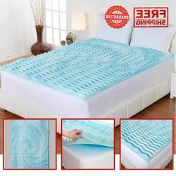 "Gel Foam Mattress Topper 3"" Cooling Spa 5-Zone Comfort Suppo"
