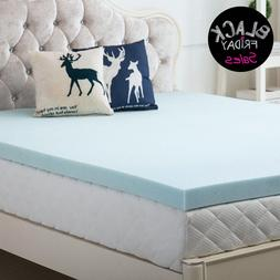 Gel Memory Foam Mattress Topper Available All Sizes 2.5Inch