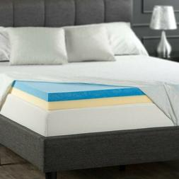 Gel Memory Foam Mattress Topper Queen Size 4 Inch Thick Best