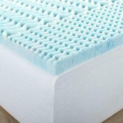 Gel Memory Foam Mattress Topper Sleep Bed Pad Comfort Firm C