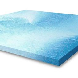 Gel Memory Foam Mattress Topper King Size, Plush 2 Inch Thic