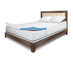 Sleep Innovations 2-Inch Gel Memory Foam Topper With Fitted