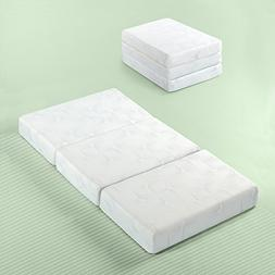 Zinus Gel Memory Foam 5 Inch Tri-Fold Comfort Portable Foldi