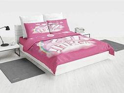 Gender Reveal Decorations cat Bedding Set Its A Girl Quote w