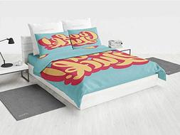 Going Away Party Decorations Chic Bedding Set Vibrant Colore