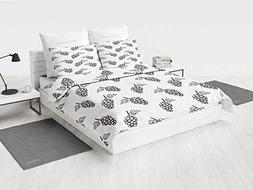 Grapes Home Decor College Dorm Bedding Sets Hand Drawn Sketc