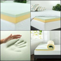 Zinus 4 Inch Green Tea Memory Foam Mattress Topper, Full