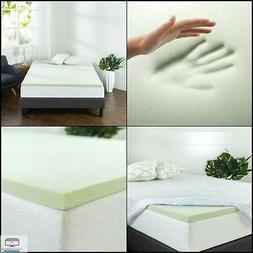 Zinus Green Tea Memory Foam Mattress Topper, All size favor
