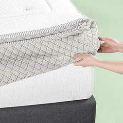 green tea memory foam quilted