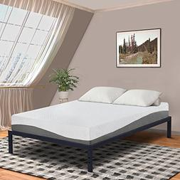 Olee Sleep 10 Inch Grey I Gel Layer Top Memory Foam Mattress