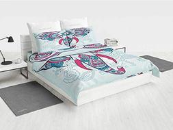Henna Country Bedding Sets Doodle Style Elephant with Many D