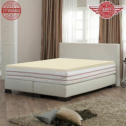 Foam Mattress Topper High Density Comfort 1 Inch Multiple Si