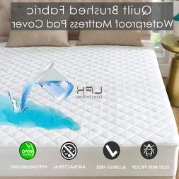 Hypoallergenic Quilted Bed <font><b>Mattress</b></font> Pad