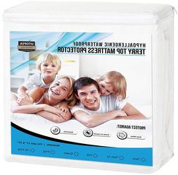 Hypoallergenic Waterproof Mattress Protector Fitted Premium