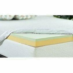 Zinus  Inch Green Tea Memory Foam Mattress Topper