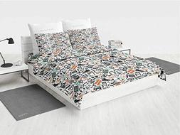 Indie Twin Bedding Sets for Girls Hipster Fashion Themed Pat