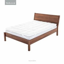 MALOUF ISOLUS Plush Down Alternative Fiber Bed Mattress Topp