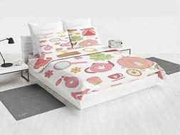 Kids Decor Disney Bedding Set Princess Tiara Tea Party Mirro