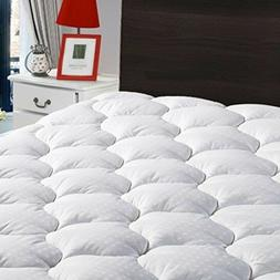 King Overfilled Mattress Pad Cover Cooling Mattress Topper S