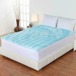 King Size Foam Mattress Topper 3 Inch Gel Orthopedic Pad Cov