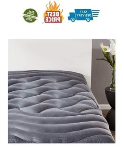 King Size Mattress Pad Cover Memory Foam Pillow Top Cooling