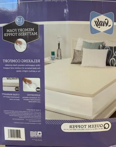 1 5in memory foam bed mattress topper