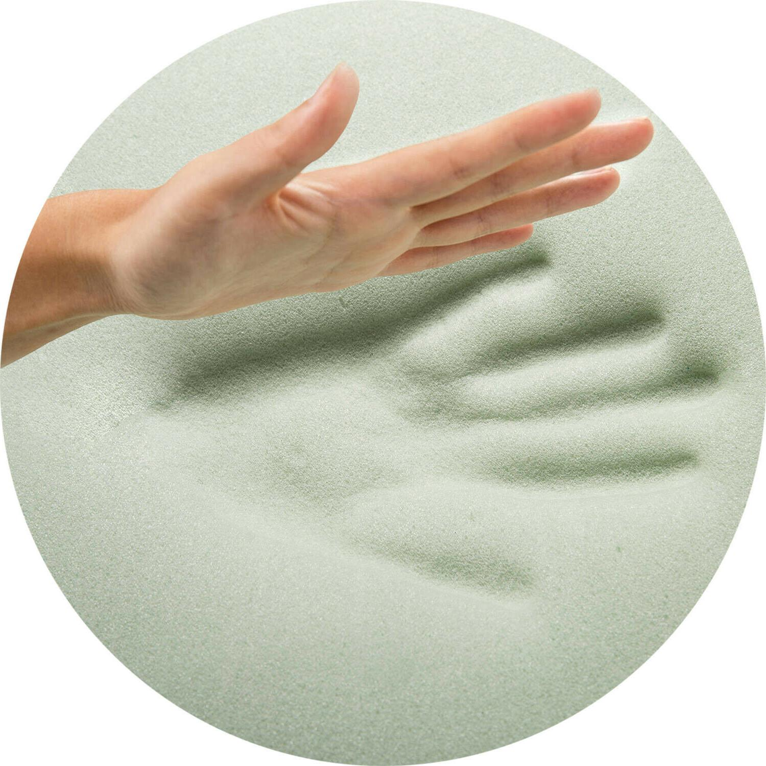 """1"""" Inch Foam Mattress Topper Size with Zoned Fusion Gel Cooling"""