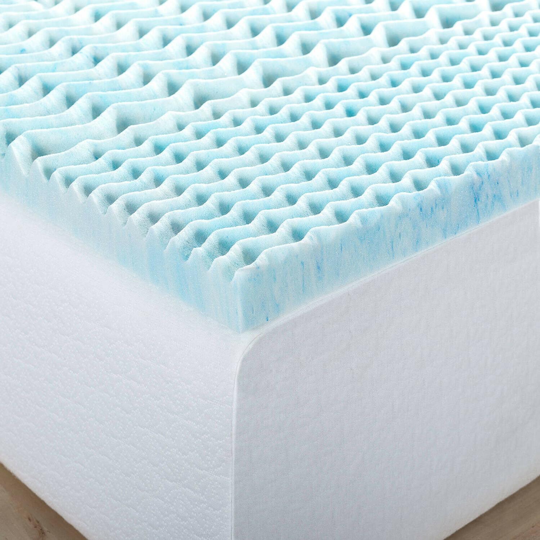 "1"" Inch Memory Foam Mattress Queen Size Zoned Gel Cooling"