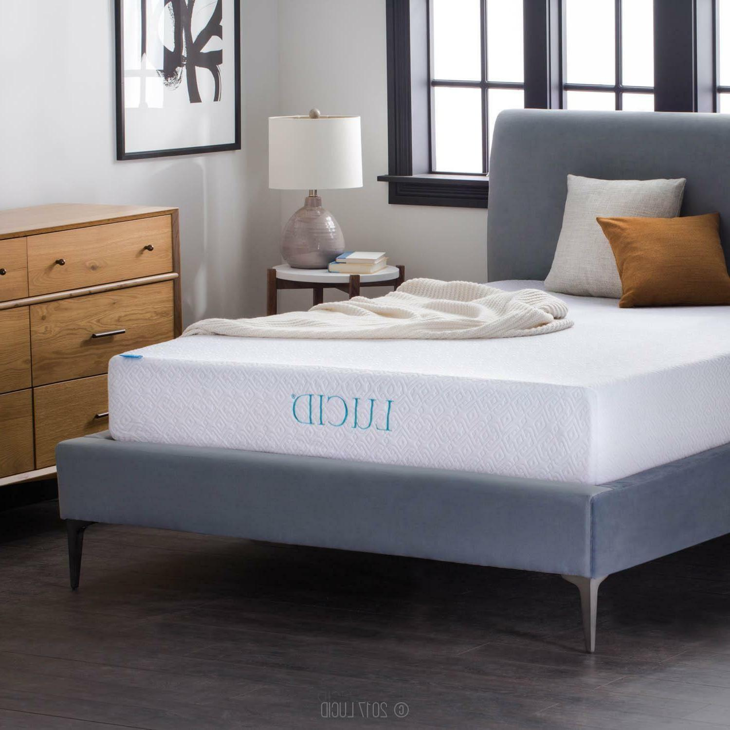 LUCID 10 Gel Memory Foam Mattress Medium Firm Full King