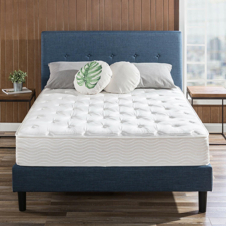 10 inch spring support mattress green tea