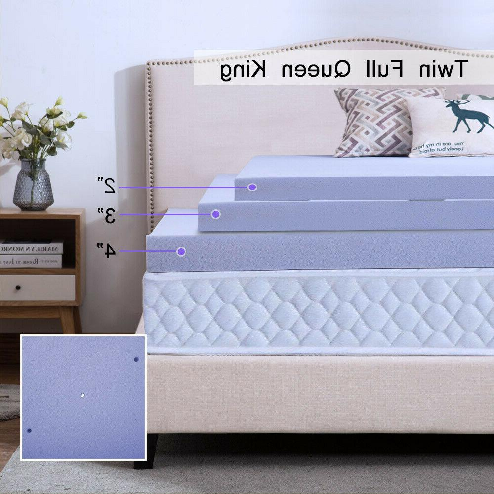 Mattress 2 4 Gel Foam Cooling Lavender Size