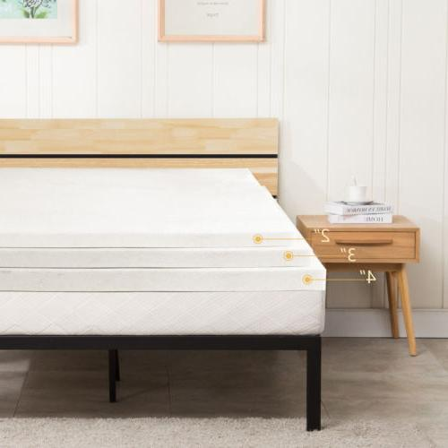 2 3 4 inch memory foam mattress