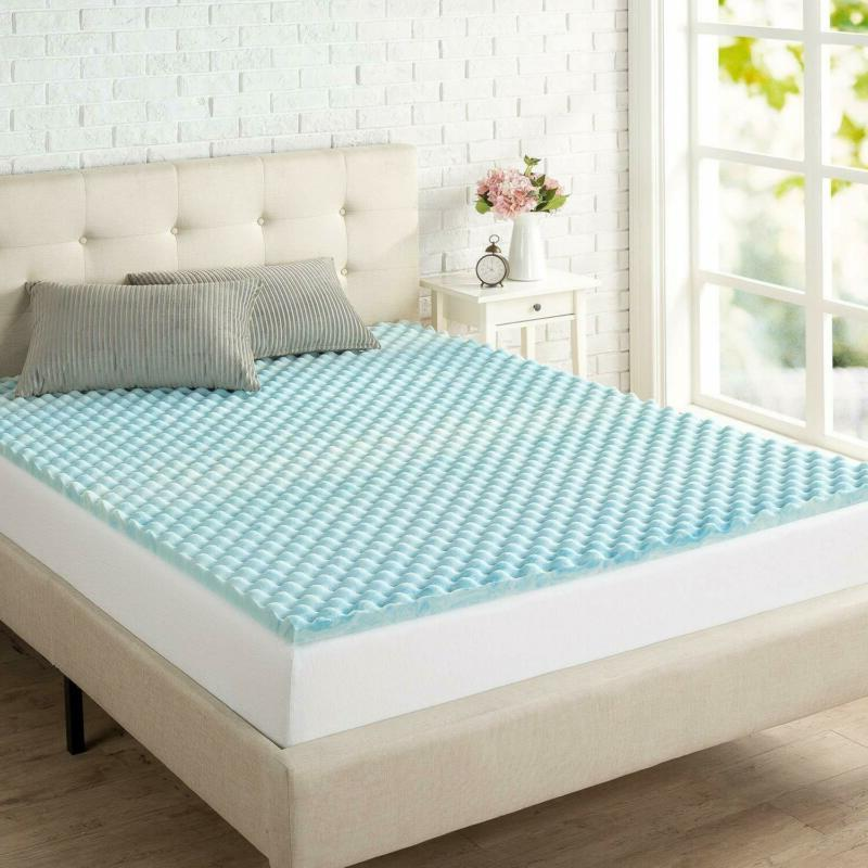 Zinus Swirl Gel Memory Foam Flow Full Queen King